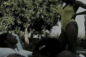 Hot Black Bisexual Chicks in FFM 3some