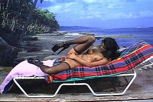 Busty Black Slut Gets Double Penetration