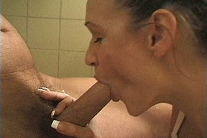 Lee Ann finds Herself Fucking Cock in a Neighbors Bathroom