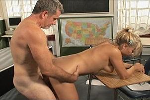Nerdy Blond Sucks The Professor's Cock