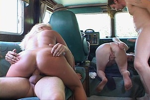 Hot Chicks And Guys Have Big Orgy In RV