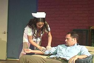 Busty Nurse Giving Unusual Sex Treatment