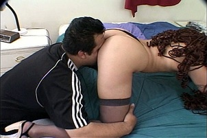 Latina in Stockings Getting Tag Teamed