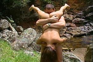 Charmane Star Sucks Cock By Waterfall