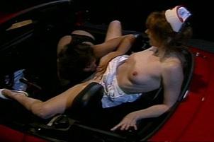 Interracial Lesbian Scene In Car