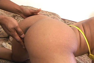 Big Booty Black Girl Taking a Fat Cock