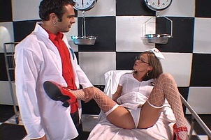 Submissive Nurse Ass Fucked By Doctor