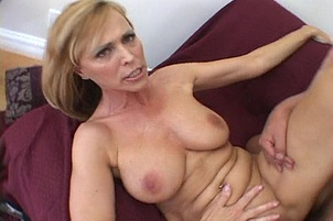 Dude Cums All Over Nicole Moore's  Big Tits