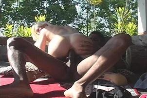 Sexy Nicole Takes Black Anal Outdoors