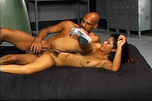 Cute Asian Takes A Footlong In Her Holes