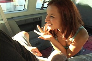 Naughty Dani Fucks A Guy In The Van