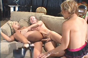 Two Skanky Blondes Fucking For Some Cum