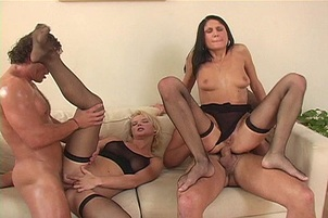 Two European Fuck Sluts Double Penetrated And Anal Slammed