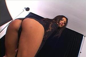 Dirty Angel Charmane Looks Hot in Black Latex PVC wear