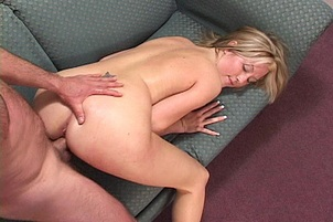 Britney Jay Waits on the Couch for Hard Cock