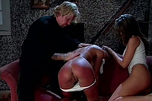 Cute and Naughty Babes Get Spanked