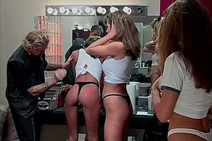 Steamy Group Spanking In Dressing Room