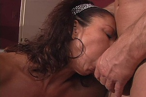 Horny MILF Takes a Pounding by a Buck