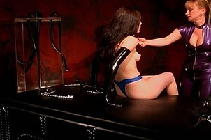 Little Brunette Slave Begs For Mercy