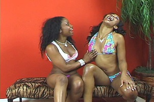 Sexy Black Whores Fucking WIth Lollipops