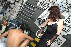 Dominatrix Controls Her Two Poor Slaves