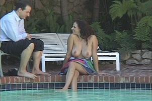 Natural Big Tit Babe Fucking Outside