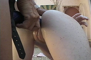 Young Blond Banged Hard With A Strap-on