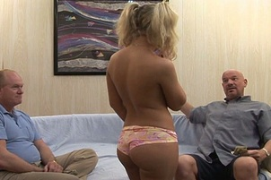 Hot Blond Teen Aubrey Bangs For Cash