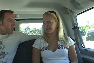 Blond Bimbo Fucks in the Back Seat