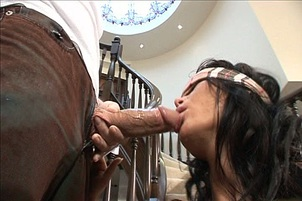 Anna Nova Gets Blindfolded And Her Mouth Fucked