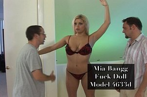 Mia Banggs Jerks Two Fat Cocks At The Same Time