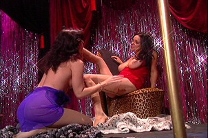 Strippers Lick Each Others' Pantyhose