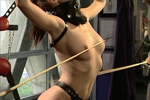 Two Girls Hammers A Third With Strap-ons