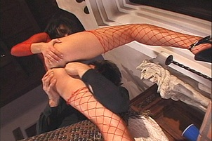 Victoria Sin Anal Fucked In Fishnets