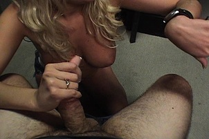 Horny Young Blond Swallows A Fat Prick