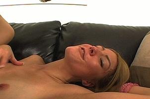 Horny Blonde Amateur Sucks & Fucks Cock