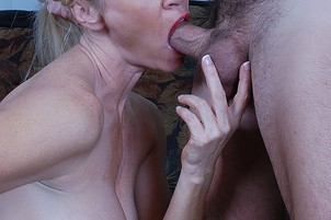 Busty Blond MILF Seduces Stranger