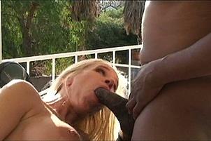 Busty Blonde MILF Black Cock Anal