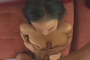 Brunette With Massive Pussy Lips Fucked