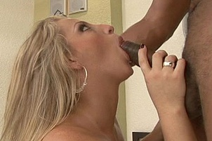 Hot Blond Gets Pleasure From Huge Cock.