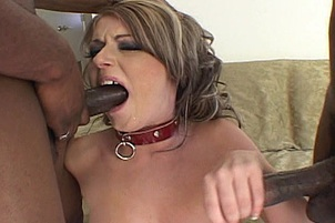 Sophie Dee Takes on Two Black Dicks