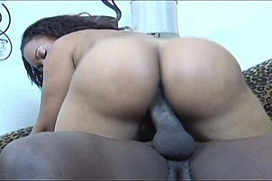 Ebony Bitch With a Gangsta Booty Railed