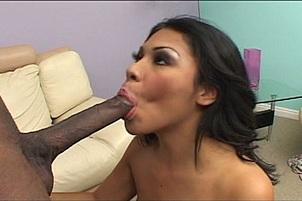 Latina Taking On Black Monster Cock