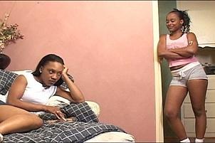 Two Hottie Black Sluts Mutually Vibrate