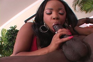 Black Girl Takes A Huge Ebony Penis