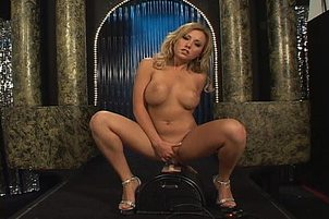 Jasmine Tame Strips And Rides A Sybian