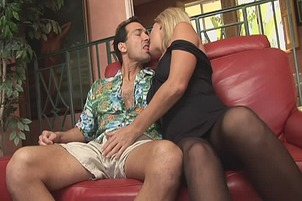 Slurping Blonde Whore Loves To Swallow