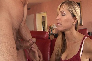Blonde Cocksucker Swallows Entire Load