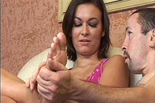 Delicious Brunette Swallows A Whole Load