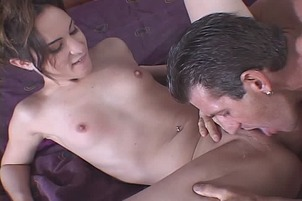Petite Brunette With Tiny Tits Squirts